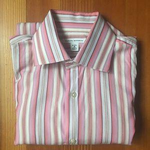 Banana Republic Pink Pinstripe Dress Shirt 15